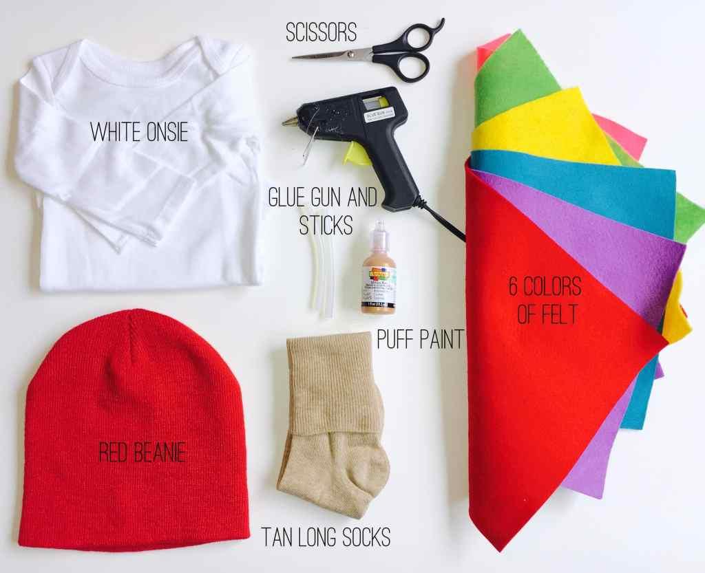 DIY Ice Cream Cone Costume Supplies
