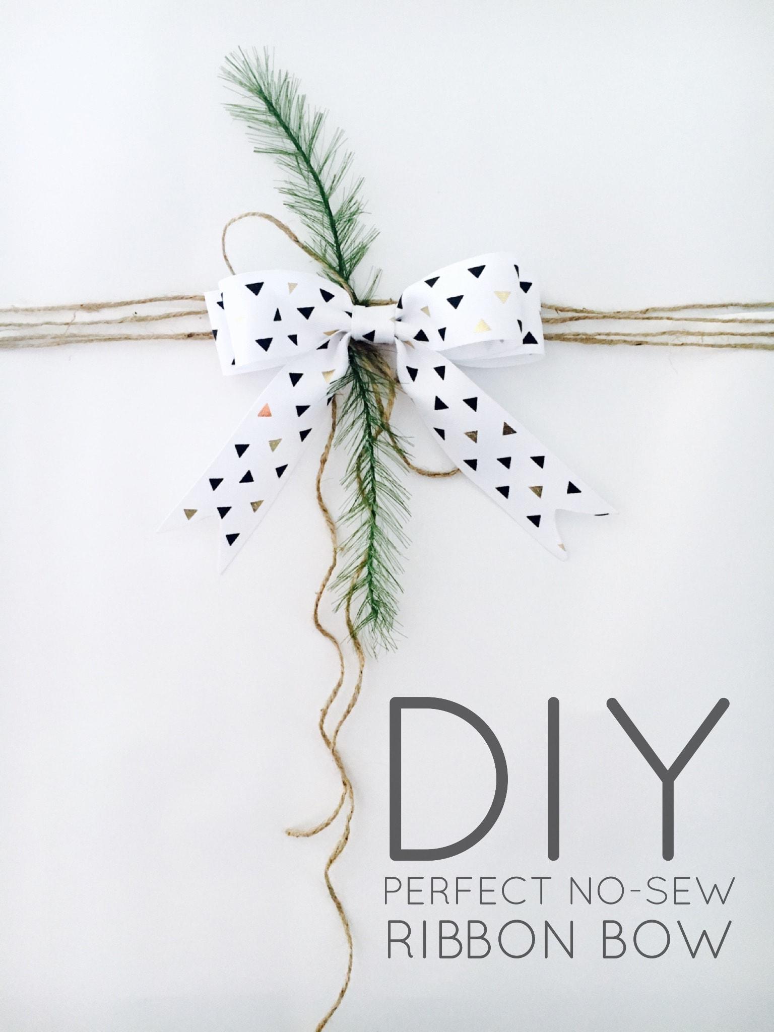 DIY Perfect No-Sew Ribbon Bow