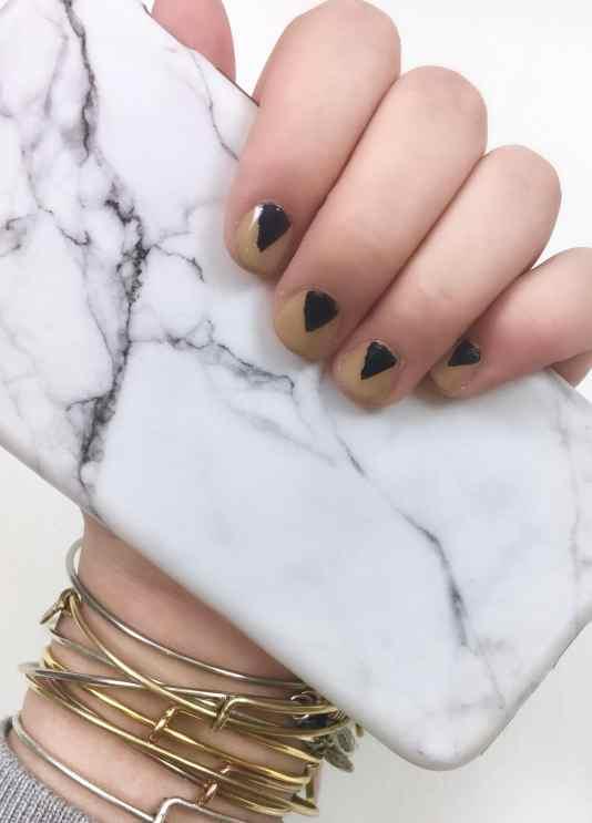 Minimalist Triangle Manicure