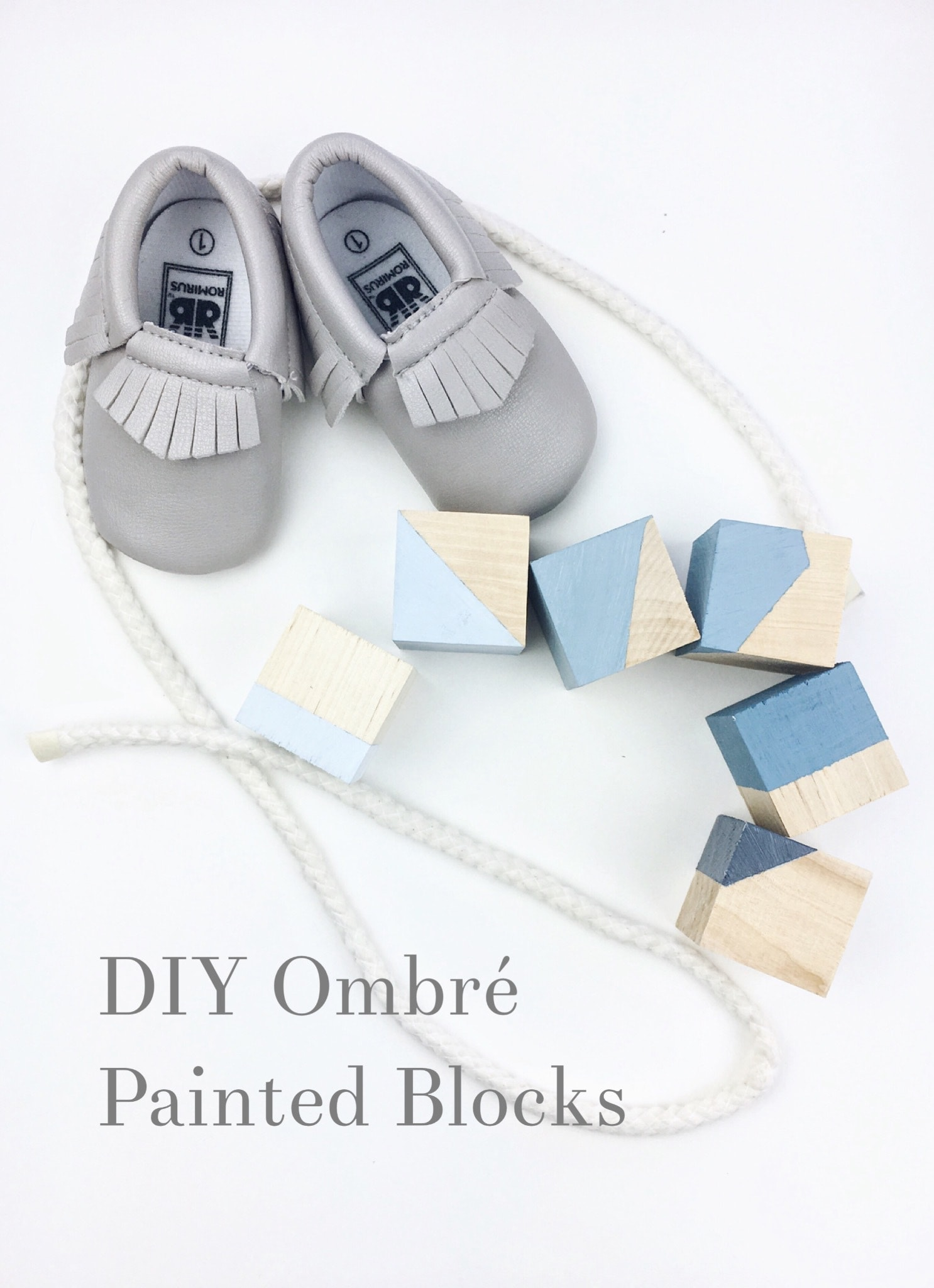 DIY Ombré Painted Blocks