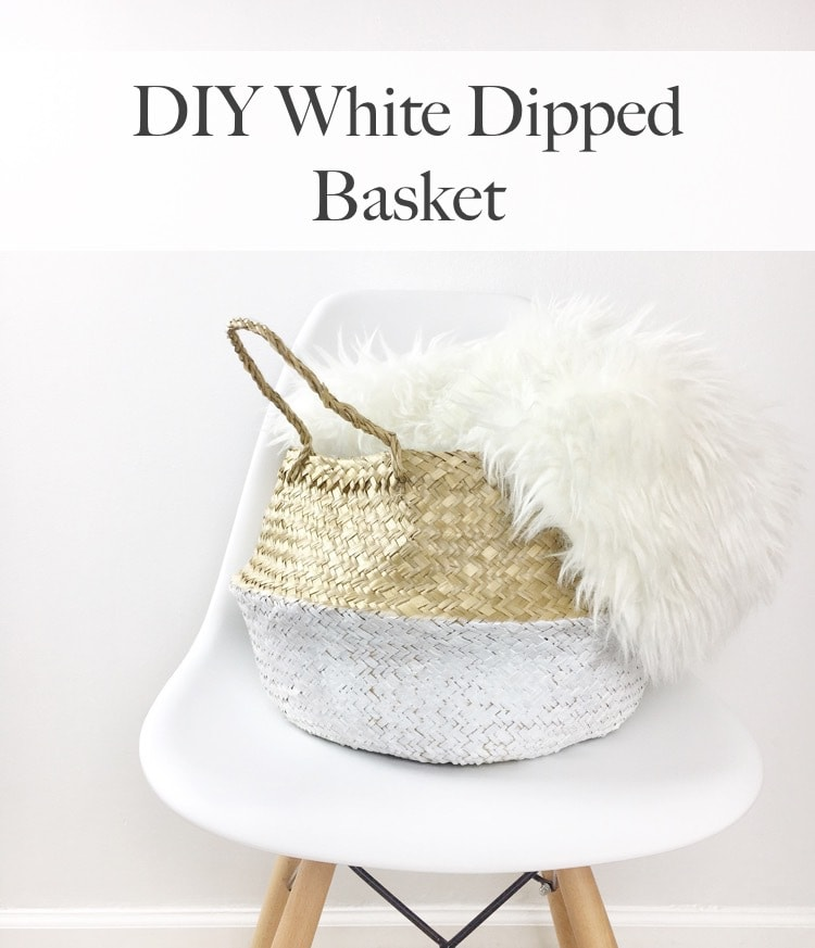 DIY White Dipped Basket