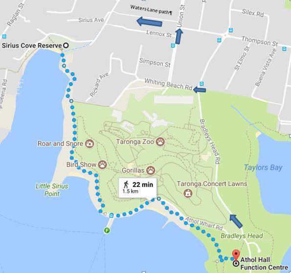 Sirius Cove to Athol Hall circular walk