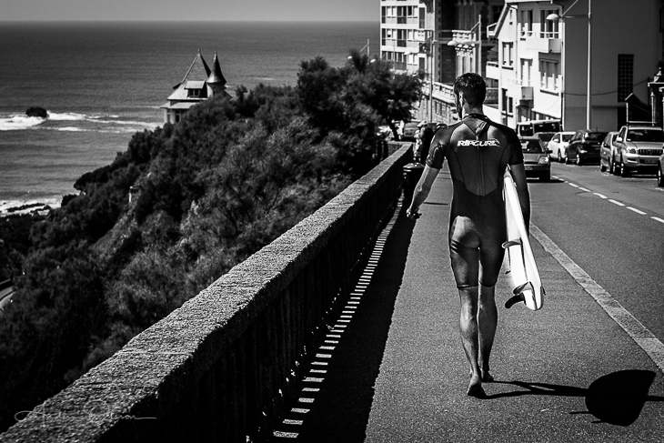 Surfing in Biarritz