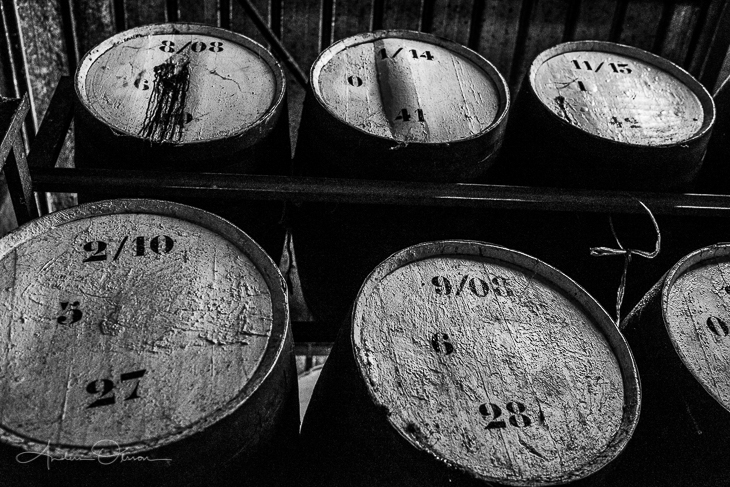 Some rum barrels in Guadeloupe