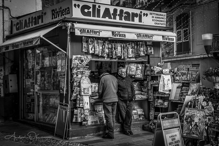 Newsstand in San Remo
