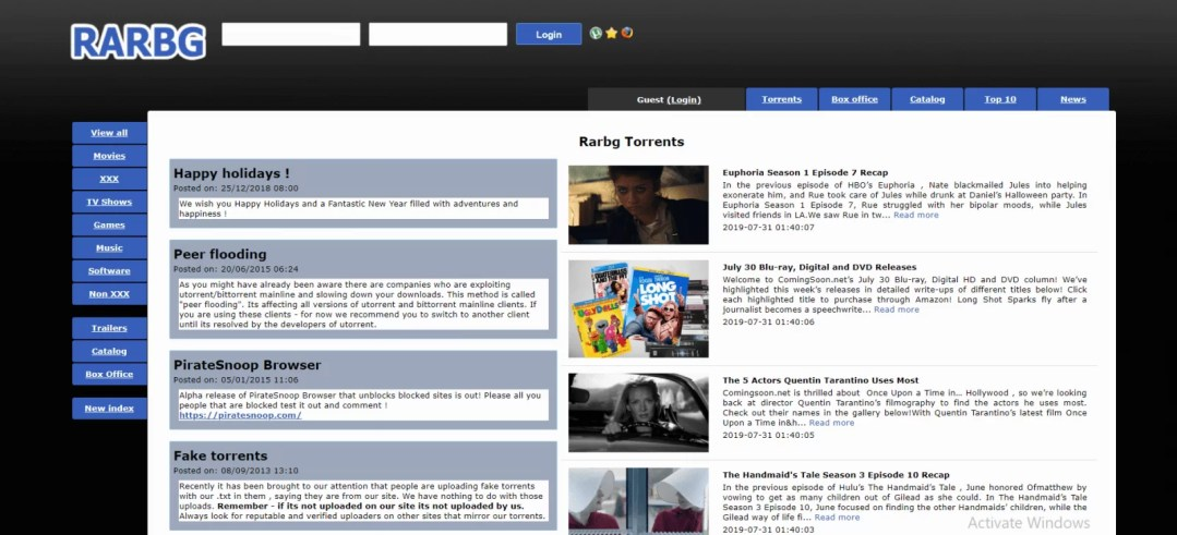 RARBG - Best Torrent Sites