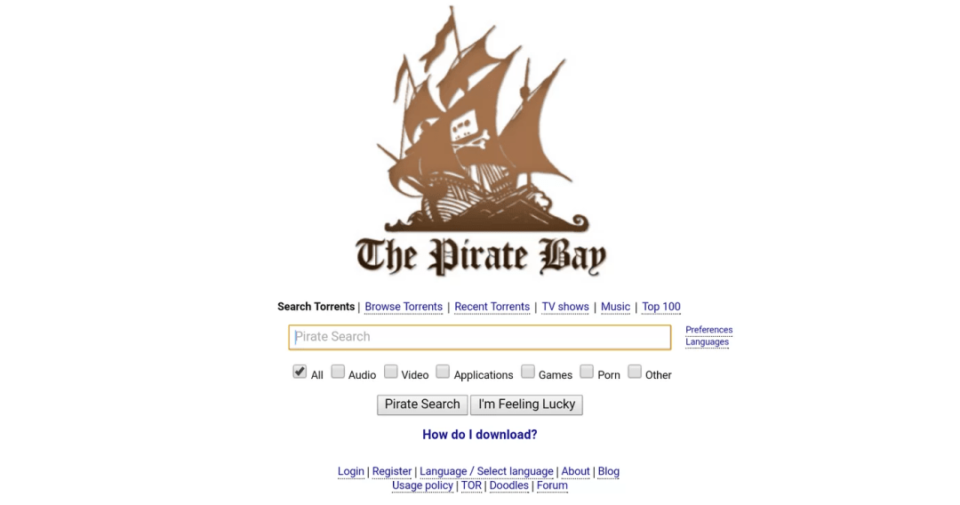 The Pirate Bay Torrent Sites