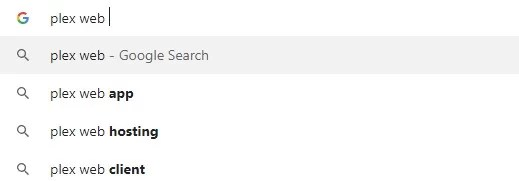 Search Plex Web