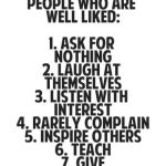 People Who Are Well Liked …