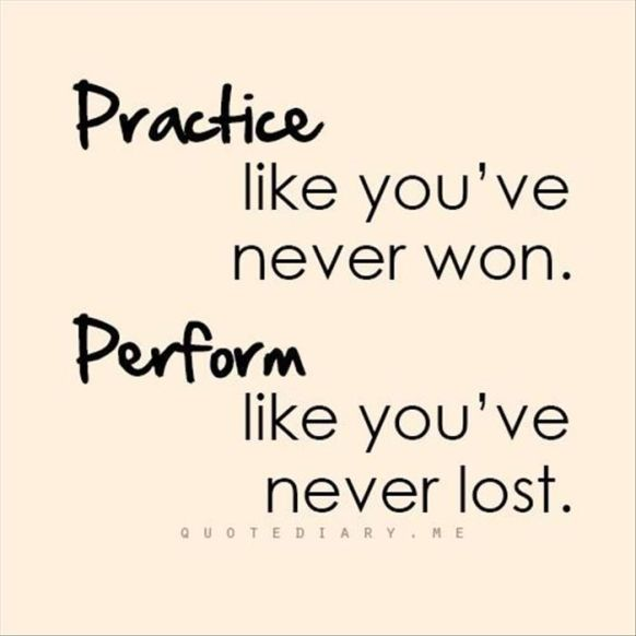 Practice Like You Have Never Won