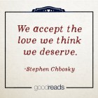 We accept the love...