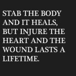 Stab The Body And It...