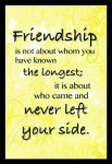 Friendship Is Not About Whom...