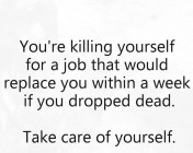 You Are Killing Yourself...