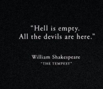 Hell Is Empty...