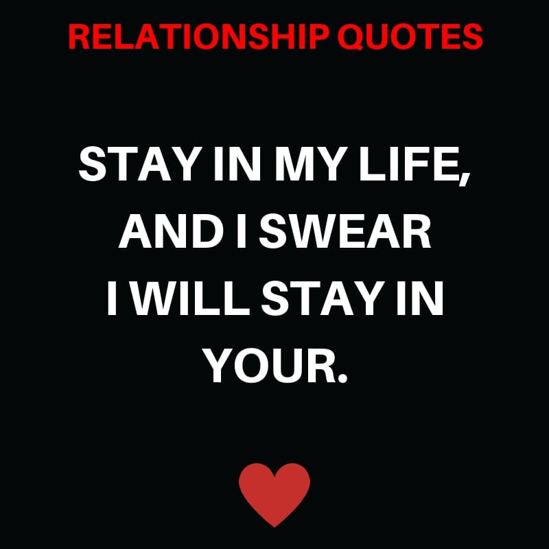 Stay In My Life