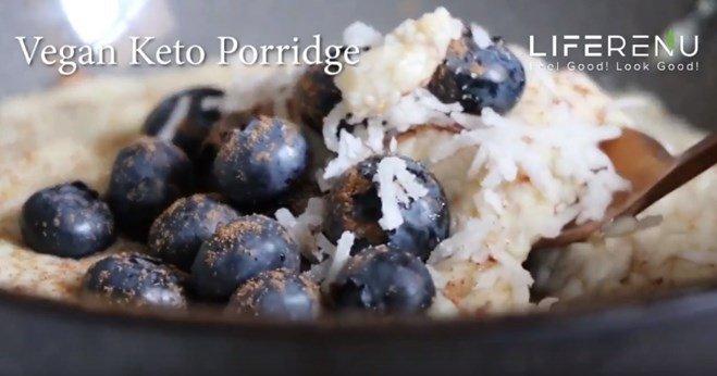 Vegan Keto Porridge Breakfast