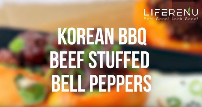 Keto Korean BBQ Beef Stuffed Bell Peppers
