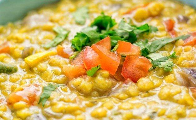 Vegetarian split pea soup recipe