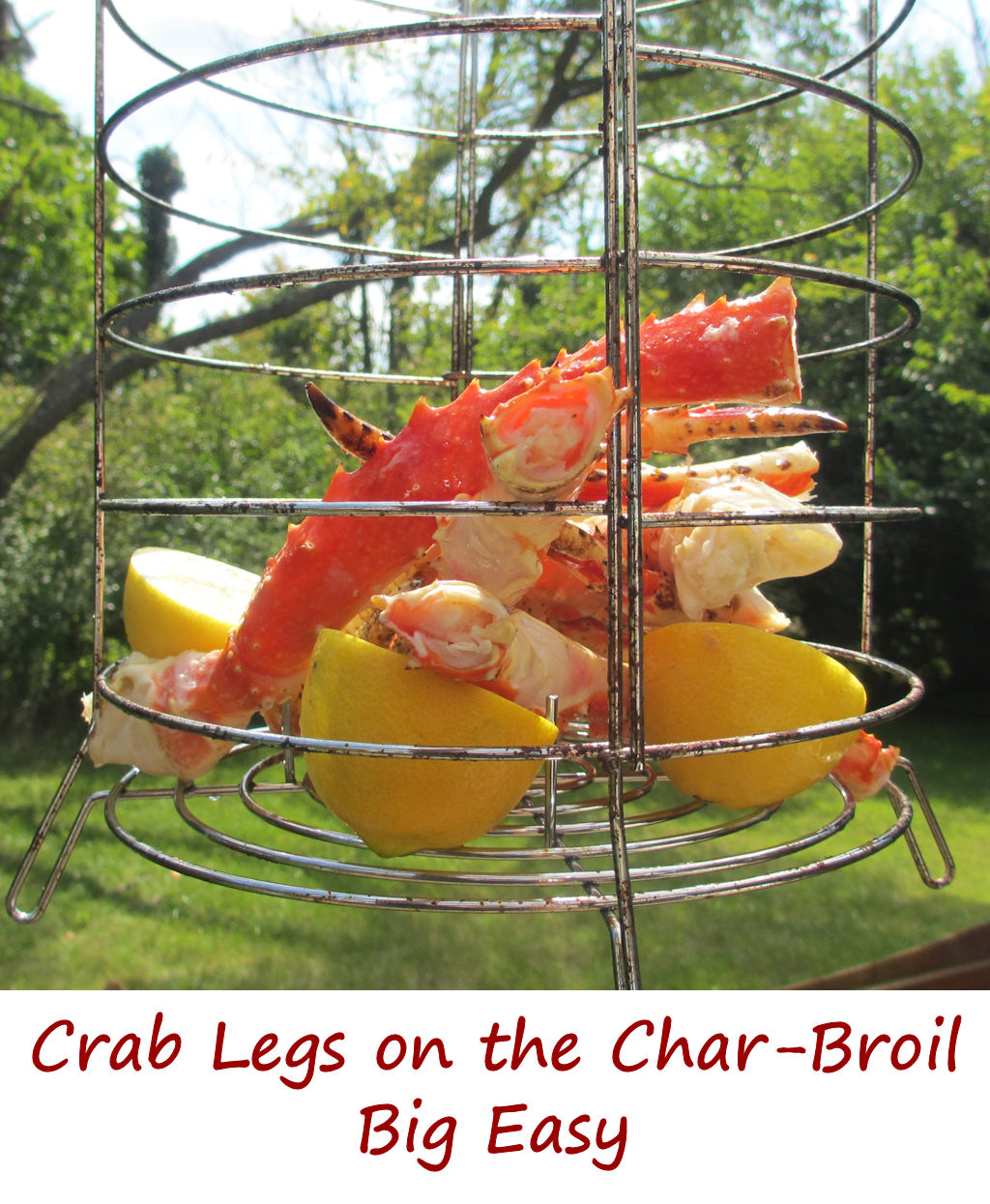 Crab Legs on the Char-Broil Big Easy - Life's A TomatoLife's