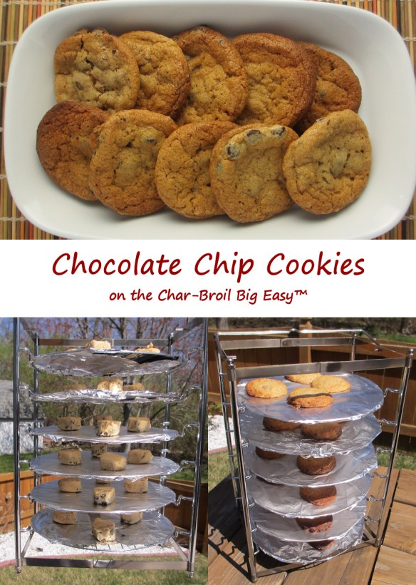 Chocolate Chips Cookies on the Char-Broil Big Easy