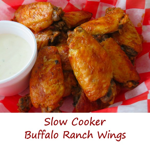 Slow Cooker Buffalo Ranch Wings