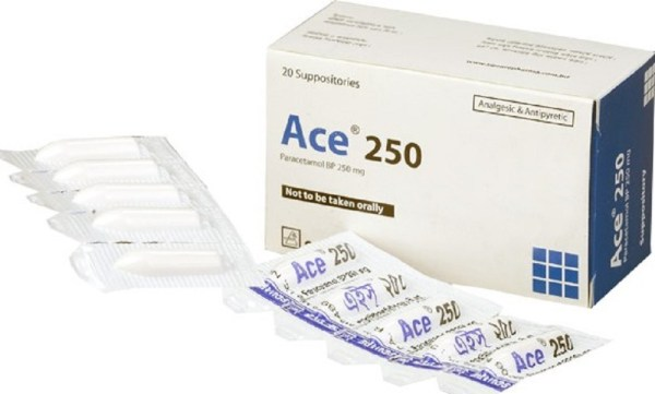 Ace Suppository 250 mg (Square Pharmaceuticals Ltd)