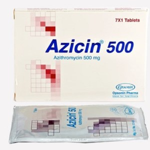 Azicin-500 mg Tablet(Opsonin)