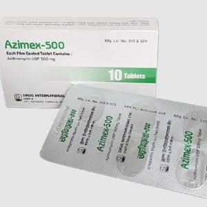 Azimex Tablet 500 mg (Drug International Ltd)