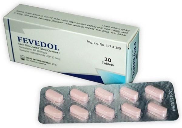 Fevedol 325 mg+37.5 mg Tablet (Drug International Ltd)