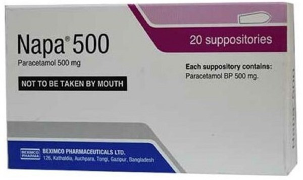 Napa Suppository 500 mg (Beximco Pharmaceuticals Ltd)