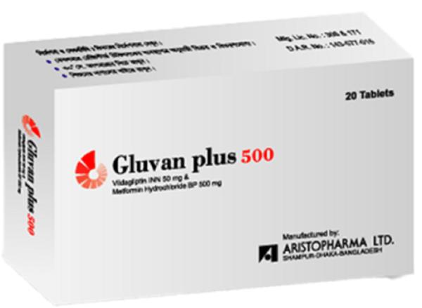Gluvan Plus 50+500 mg Tablet (Aristopharma Ltd)
