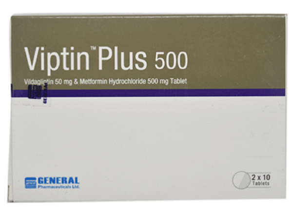 Viptin Plus 50+500 mg Tablet (General Pharmaceuticals Ltd)