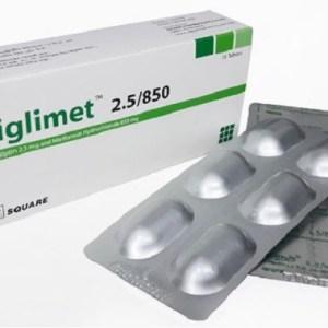 Liglimet-2.5 mg+850 mg Tablet (Square Pharmaceuticals Ltd)