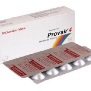 Provair- Chewable Tablet 4 mg(Unimed Unihealth MFG. Ltd)
