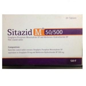 Sitazid M - 50 mg+500 mg Tablet( Eskayef )