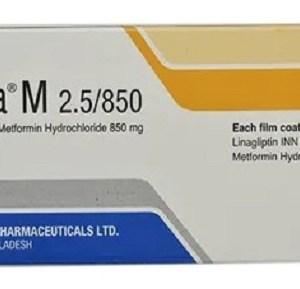 Traneta M-2.5 mg+850 mg Tablet (Beximco Pharmaceuticals Ltd)