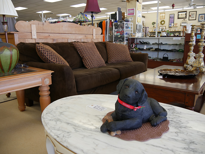 home furnishing at upscale resale thrift store