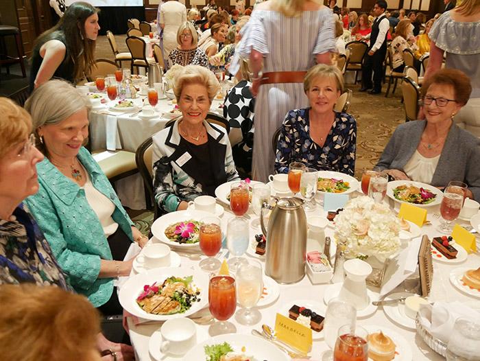 women friends enjoying lunch and fellowship
