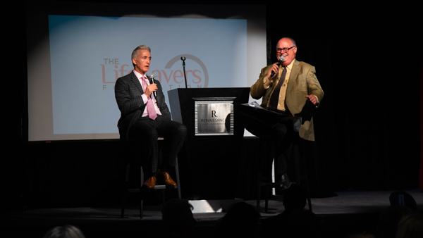 Trey Gowdy and Mark Davis speaking at LifeSavers Foundation fundraiser