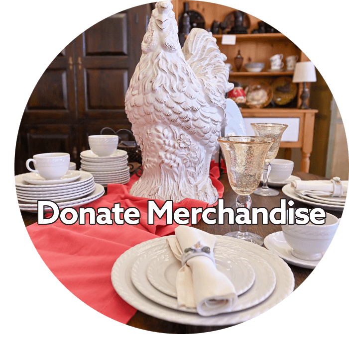 donated merchandise for sale