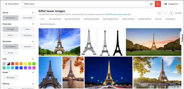 Similar photos of the Eiffel Tower.
