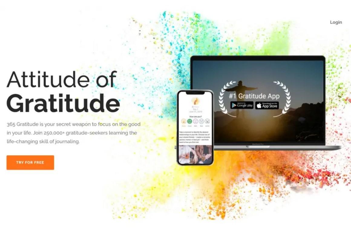 Заставка приложения 365 Gratitude.