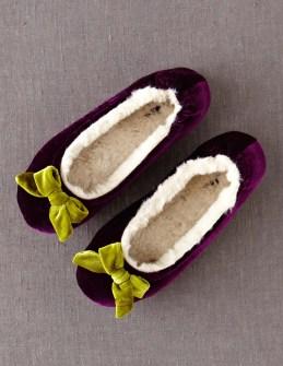 Velvet Slippers $36