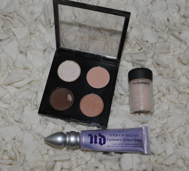 MAC Quad Palette, MAC Lithe Pigment, Urban Decay Eyeshadow Primer
