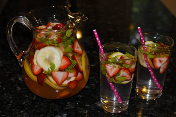 Strawberry Lemon Mint Water