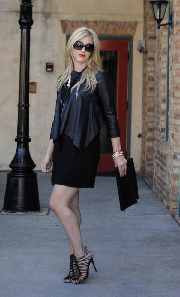 Black Dress & Leather