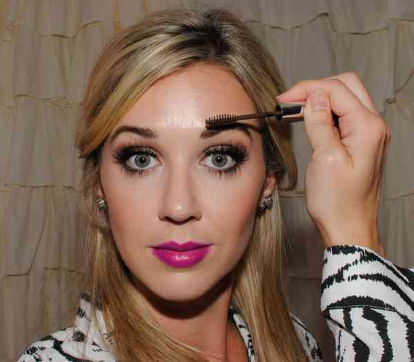 applying anastasia tinted brow gel