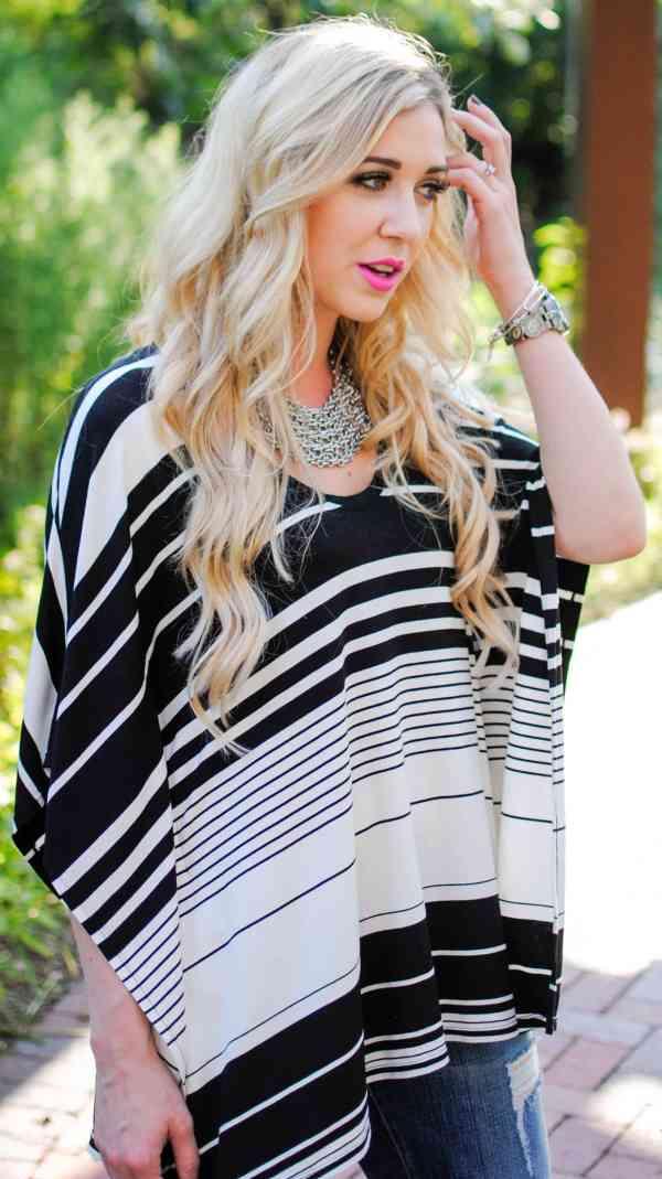 BCBG black & white stripe