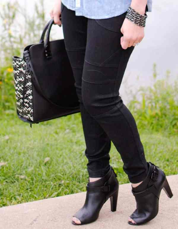 faux leather jogging pants